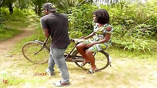 The Only Guy Man Who Own Bicycle Prevalent The Village Fucked All The Village Girls And People Wives Prevalent The Bush