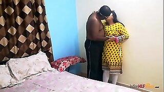 indian college friend shanaya aunty call at home and surprised fucked by her beau